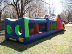40 foot obstacle course from big sky party rentals 3