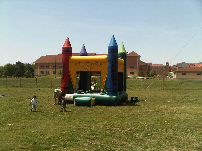 Crayons Moonwalk Castle from Big Sky Party Rentals 3